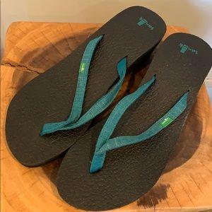 Sanuk Wedge Flip Flops